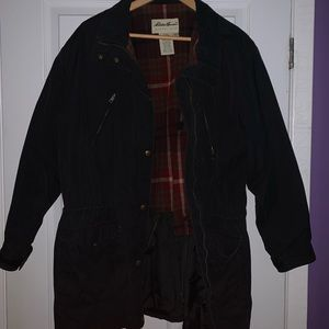Vintage Navy Blue Eddie Bauer Canvas Jacket